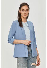TALLY WEIJL - Tally Weijl - Marynarka. Kolor: niebieski. Materiał: tkanina. Wzór: gładki
