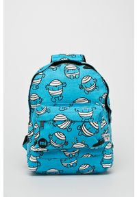 Niebieski plecak Mi-Pac z nadrukiem