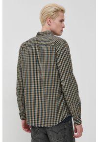Tom Tailor - Koszula bawełniana. Okazja: na co dzień. Typ kołnierza: button down. Kolor: niebieski. Materiał: bawełna. Długość rękawa: długi rękaw. Długość: długie. Styl: casual