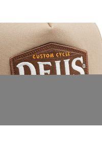 Deus Ex Machina - Czapka z daszkiem DEUS EX MACHINA - American Twin Trucker DMA207534 Tobacco. Kolor: beżowy. Materiał: materiał, bawełna, poliester