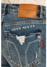 Niebieskie jeansy Miss Sixty w kolorowe wzory