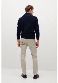 Niebieski sweter rozpinany Mango Man na co dzień, casualowy
