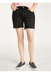 Lee Szorty jeansowe Boyfriend L37NCPOZ Czarny Relaxed Fit. Kolor: czarny. Materiał: jeans
