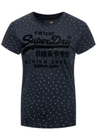 Niebieski t-shirt Superdry