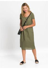 Zielona sukienka bonprix midi