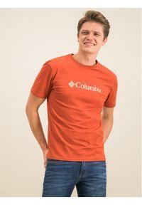 Pomarańczowy t-shirt columbia
