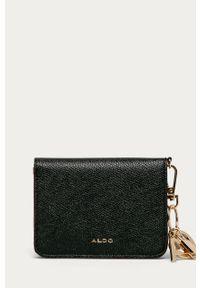 Czarny portfel Aldo gładki
