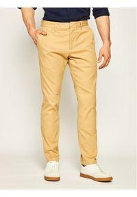 Brązowe spodnie EA7 Emporio Armani
