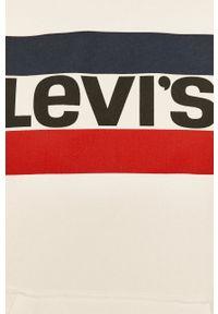 Levi's® - Levi's - Bluza. Okazja: na spotkanie biznesowe. Typ kołnierza: kaptur. Kolor: beżowy. Materiał: dzianina. Długość rękawa: raglanowy rękaw. Wzór: nadruk. Styl: biznesowy