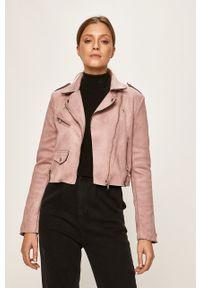 Fioletowa kurtka only bez kaptura, klasyczna, na co dzień