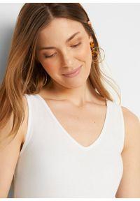 Top ciążowy z bawełny organicznej (2 szt.) bonprix czarny + biały. Kolekcja: moda ciążowa. Kolor: czarny. Materiał: bawełna