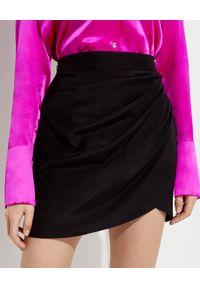 GAUGE81 - Czarna spódnica Nagato. Kolor: czarny. Materiał: jedwab. Styl: wizytowy #1