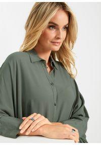 Zielona tunika bonprix krótka, z krótkim rękawem