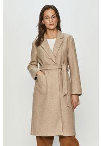 Beżowy płaszcz only bez kaptura, na co dzień, casualowy