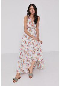 Pepe Jeans - Sukienka Fionas. Materiał: tkanina. Długość rękawa: na ramiączkach. Typ sukienki: rozkloszowane
