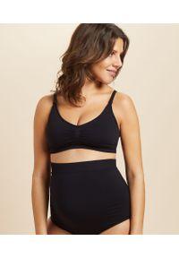 Czarny biustonosz braletka Etam moda ciążowa