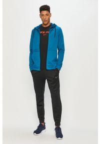 Niebieska bluza rozpinana Nike z kapturem, casualowa, na co dzień
