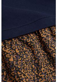 Niebieska sukienka Mango Kids na co dzień, z długim rękawem, casualowa, mini