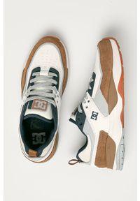 Szare sneakersy DC z cholewką, na sznurówki, z okrągłym noskiem