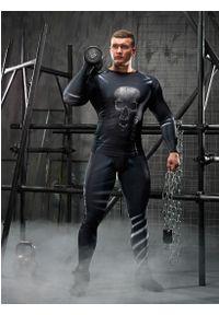 FJ! - Rashguard długi rękaw SKULL. Materiał: dzianina, materiał, elastan, skóra, poliester. Długość rękawa: długi rękaw. Długość: długie. Wzór: nadruk. Sport: fitness