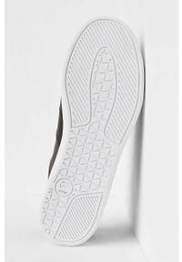 Czarne sneakersy G-Star RAW z okrągłym noskiem, na sznurówki, z cholewką