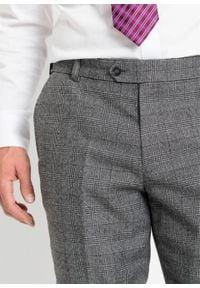 Garnitur (2 części): marynarka + spodnie bonprix szary w kratę. Kolor: szary. Styl: klasyczny