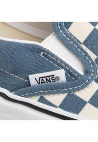 Niebieskie buty sportowe Vans bez zapięcia, z cholewką #7