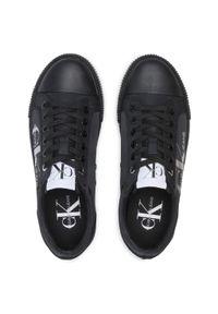 Czarne półbuty Calvin Klein Jeans na co dzień, casualowe, z cholewką