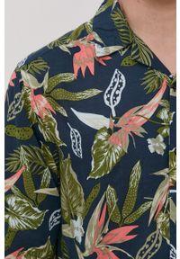 Only & Sons - Koszula. Typ kołnierza: kołnierzyk klasyczny. Kolor: niebieski. Materiał: tkanina. Długość rękawa: krótki rękaw. Długość: krótkie. Styl: klasyczny