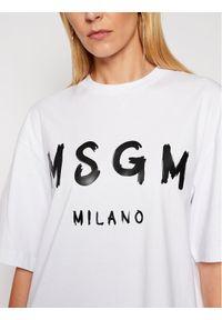 Biała sukienka MSGM prosta, casualowa, na co dzień