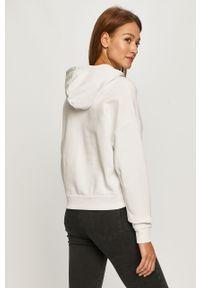 Biała bluza Guess Jeans z aplikacjami, z kapturem