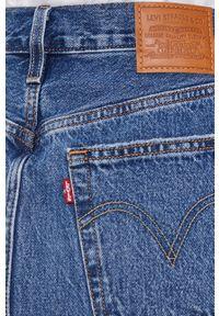 Levi's® - Levi's - Spódnica jeansowa. Okazja: na spotkanie biznesowe, na co dzień. Kolor: niebieski. Materiał: jeans. Styl: biznesowy, casual