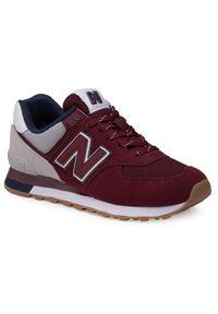 Czerwone sneakersy New Balance New Balance 574, z cholewką, na co dzień