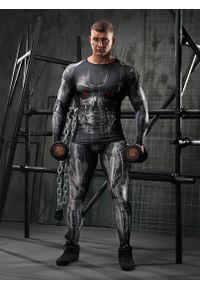 Czarna koszulka sportowa FJ! długa, na fitness i siłownię, z długim rękawem