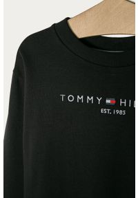 Czarna sukienka TOMMY HILFIGER na co dzień, prosta, z aplikacjami