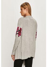 Szary sweter rozpinany Desigual casualowy, na co dzień