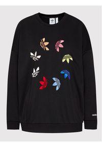Adidas - adidas Bluza adicolor Shattered Trefoil Wheel H36845 Czarny Relaxed Fit. Kolor: czarny