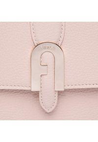 Różowa torebka klasyczna Furla skórzana, na ramię