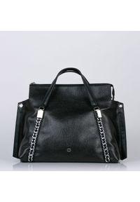 Czarna torebka Monnari elegancka, z aplikacjami