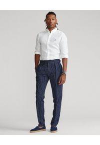 Ralph Lauren - RALPH LAUREN - Biała lniana koszula Lightweight Slim Fit. Typ kołnierza: polo. Kolor: biały. Materiał: len. Długość rękawa: długi rękaw. Długość: długie. Wzór: haft. Styl: elegancki #2