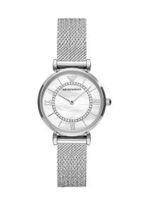 Emporio Armani - Zegarek AR11319. Kolor: srebrny. Materiał: materiał