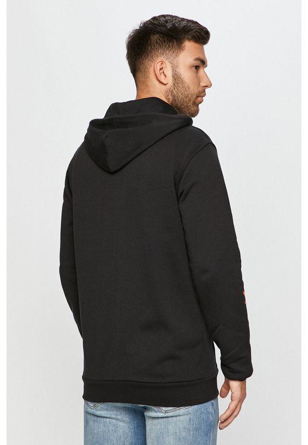 Czarna bluza rozpinana adidas Originals casualowa, z kapturem, na co dzień
