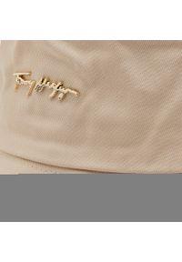 Bucket TOMMY HILFIGER - Signature AW0AW10056 ACI. Kolor: beżowy. Materiał: bawełna, materiał