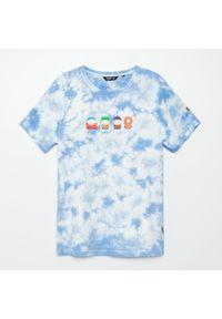Biały t-shirt Cropp z nadrukiem