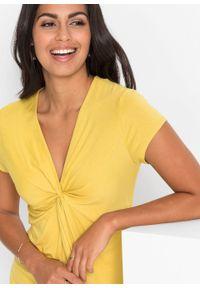 Żółta bluzka bonprix