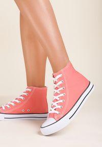 Renee - Pomarańczowe Trampki Kelapheu. Nosek buta: okrągły. Zapięcie: sznurówki. Kolor: pomarańczowy. Materiał: materiał, guma. Szerokość cholewki: normalna. Wzór: aplikacja. Obcas: na płaskiej podeszwie. Styl: klasyczny #3