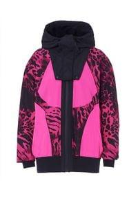 REDEMPTION ATHLETIX - Różowa kurtka z odpinanym kapturem. Okazja: na co dzień. Kolor: różowy, fioletowy, wielokolorowy. Materiał: poliester. Wzór: motyw zwierzęcy, nadruk. Styl: sportowy, casual