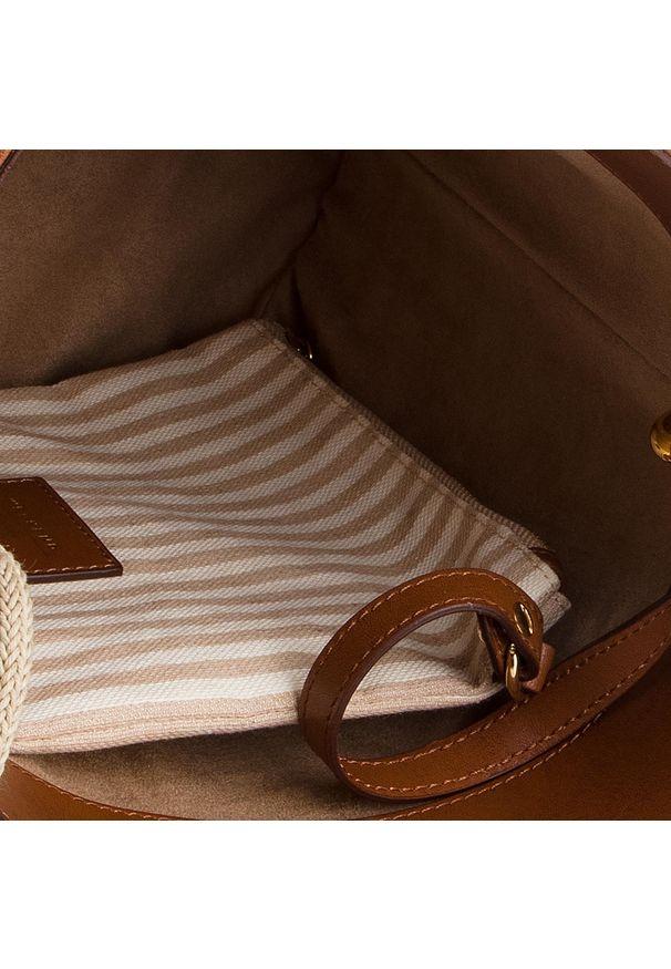 Brązowa torebka klasyczna Weekend Max Mara klasyczna