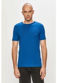 Jack & Jones - T-shirt. Okazja: na co dzień. Kolor: niebieski. Materiał: dzianina, bawełna. Wzór: gładki. Styl: casual #5