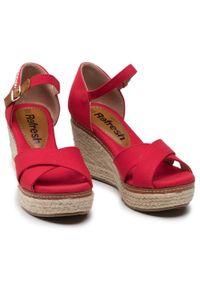 Refresh - Espadryle REFRESH - 72879 Rojo. Okazja: na co dzień, na spacer. Kolor: czerwony. Materiał: materiał. Sezon: lato. Obcas: na obcasie. Styl: casual. Wysokość obcasa: średni #5